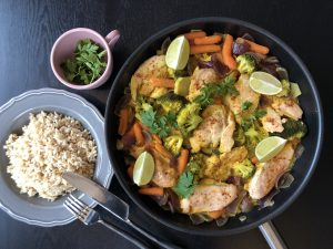 coconut lime chicken and vegetables recipe
