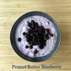 Blueberry Peanut Butter Yogurt and Chia Bowl