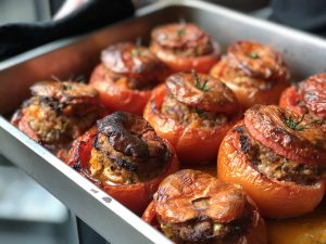 Stuffed Tomatoes with Vegetables and Ground Meat Recipe